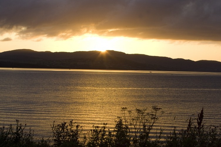 The Fanad Peninsula, as seen from Inishowen on the opposite side of Lough Swilly