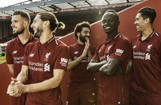 Liverpool unveil their new home kit for next season