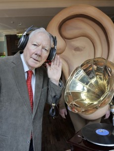 Caption competition: What is Uncle Gaybo listening to?