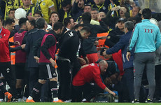 Turkish Cup clash abandoned after Besiktas boss hit by object thrown from stands