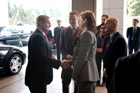 Taoiseach Enda Kenny at the new Morgan McKinley offices in Shanghai