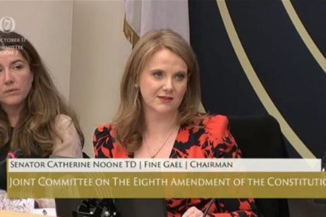 Senator Catherine Noone, Chairperson of the Oireachtas Eighth Amendment Committee