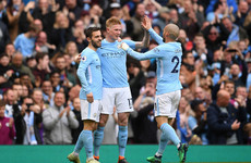 Guardiola's newly-crowned champions turn on the style to fire five past sorry Swansea
