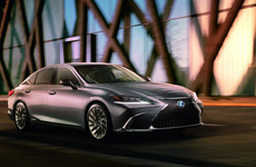 Lexus has unveiled the first image of all-new ES luxury saloon
