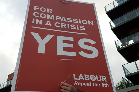 The Labour Party's Eighth Amendment referendum posters