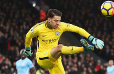 Man City 'keeper Ederson: 'I want to score before the end of the season'