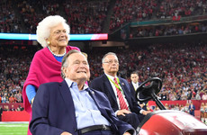 George Bush Sr hospitalised the day after his wife's funeral
