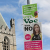 Most Irish people would rather campaign posters were banned in the run up to the referendum