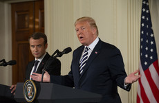 Trump slams Iran nuclear deal as 'insane' and 'ridiculous' during Macron White House meeting