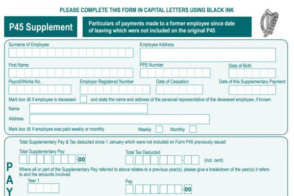 Revenue to scrap P60 and P45 forms in bid to modernise PAYE system