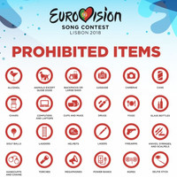People are pretty amused at the massive list of items that are prohibited at Eurovision 2018
