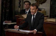 France's Emmanuel Macron attacks US nationalism in Congress speech