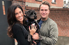 Glenda Gilson's pregnancy announcement with her dog Yazz is a bit gas