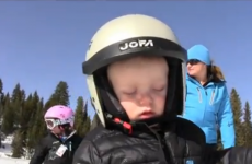 WATCH: Child falls asleep while skiing, falls over