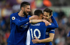 Fabregas' 50th Premier League goal keeps Chelsea's Champions League ambitions alive