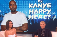Kim and Ellen played a game based on Kanye's happiness levels, and we're none the wiser