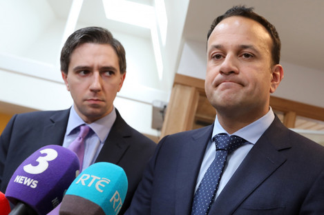 Minister for Health, Simon Harris and Taoiseach Leo Varadkar.