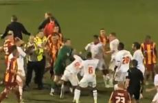 WATCH: Five sent off after Bradford v Crawley Town brawl