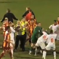 WATCH: Five sent off after Bradford v Crawley Town brawl