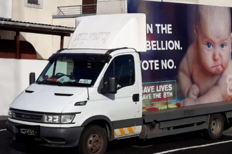This photograph was taken of the van in situ in the car park of the Garda station