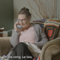 Mrs Doyle actress Pauline McLynn stars in a gas new video explaining how to register to vote