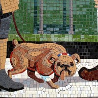 Train station mosaics in Bray being pieced together (ahem)