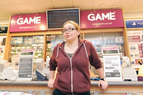 Gemma Cooney in Game in the Ilac centre in Dublin