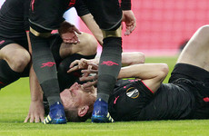 Koscielny expected to miss the World Cup after being stretchered off in tears in Madrid
