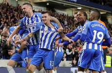 Brighton stun Man United to ensure Premier League survival