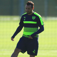 After 18 months out and 10 operations, Cazorla returns to Arsenal training