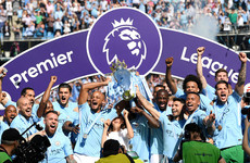 City lift Premier League trophy as Huddersfield celebrate precious point