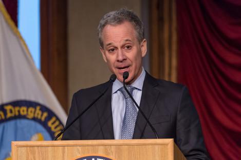 NY State Attorney General Eric Scheiderman.