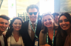 Will Ferrell is hanging out in Lisbon for the Eurovision and bumped into Ireland's backing singers