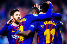 Dembele at the double as champions Barcelona close in on historic unbeaten season