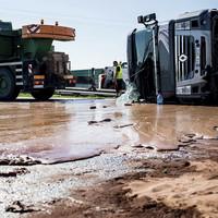 Truck crash spills 12 tonnes of liquid chocolate onto Polish motorway