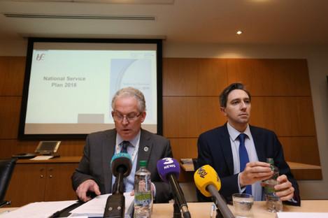 Tony O'Brien with Minister for Health Simon Harris