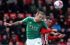 Derry maintain unbeaten home record as Cork's lead is cut to a single point