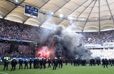 Chaotic scenes as Hamburg relegated for the first time after 55 seasons in the Bundesliga