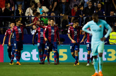 Comeback falls short as five-goal Levante put paid to Barca's invincible ambitions