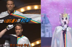 For some reason, Ryan Reynolds entered a singing competition on Korean TV dressed as a unicorn