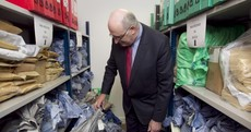 Phil Hogan Inspecting Mail Bags Pic of the Day