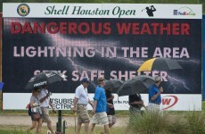 Houston, we have a problem: McDowell five back as rain stops play