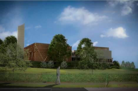 An image of the proposed mosque.
