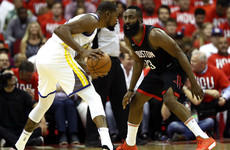 Durant drops 37 as Warriors power past Harden's Rockets in Western finals opener