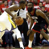 Durant drops 37 as Warriors power past Harden's Rockets in Western finals opener