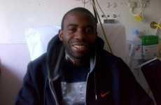On the mend: Muamba's fiancee tweets pic of Fabrice smiling in hospital
