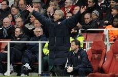 Arsene hit with UEFA touchline ban for Milan whinge