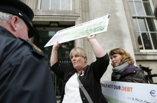 In protest: Anglo Not Our Debt and Donegal Action Against Austerity take to Dublin streets