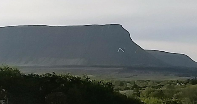 An Taisce lodges complaint over huge 'No' sign placed on Benbulben by pro-life group