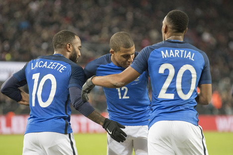 Only Mbappe has made the World Cup squad from this trio.